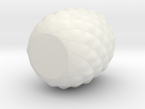 Pineaple in White Natural Versatile Plastic: Small