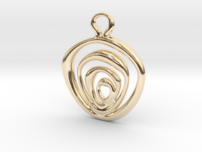 wires pedant in 14K Yellow Gold