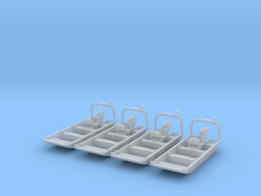 Flat Bottom Boat 01.  N Scale (1:160) or 10mm in Smooth Fine Detail Plastic