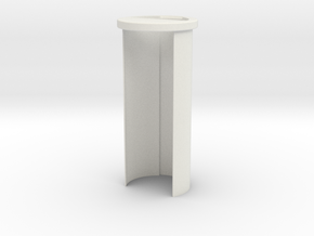 "Custom Request - 1.14""OD 26650 battery holder in White Natural Versatile Plastic"