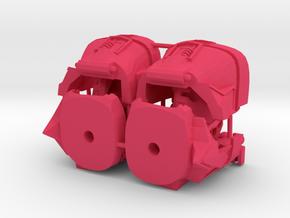 Garnetron Gauntlets in Pink Processed Versatile Plastic