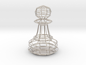 Chess Figure Pawn in Platinum