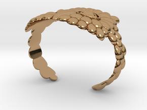 Owl Cuff Bracelet in Polished Brass