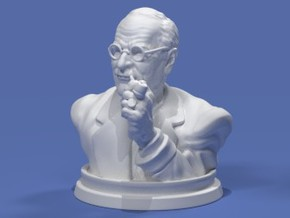 Carl Jung Bust 50mm in Frosted Ultra Detail