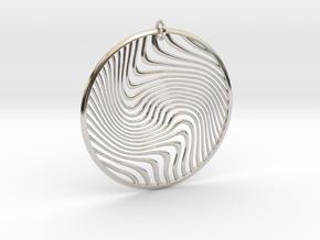 Warped Geometry Pendant in Platinum