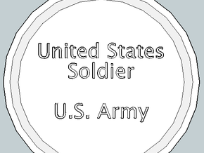 U.S. Soldier Pendant in Polished Gold Steel
