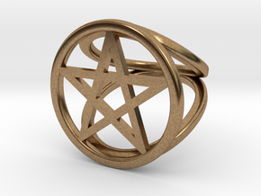 Pentacle ring in Natural Brass: 2 / 41.5