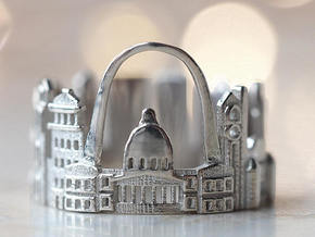 Saint Louis Ring - Geographic Ring  in Polished Silver: 5.5 / 50.25