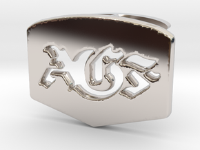 AGF cufflinks in Rhodium Plated Brass