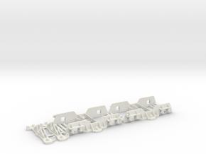 16mm Scale SM32 Ffestiniog Superbarn Bogie 1.0 in White Natural Versatile Plastic