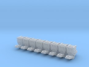 1:19 Scale FR Carriage Bogie Axleboxes in Smooth Fine Detail Plastic