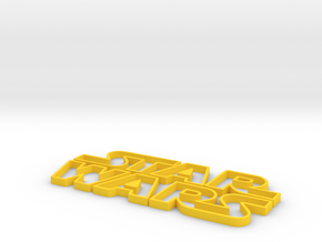 star wars Logo in Yellow Processed Versatile Plastic