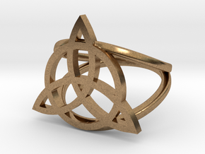 Triquetra ring in Natural Brass: 5 / 49