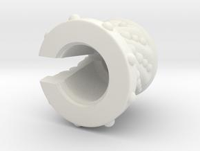 Razgryz_Beard_Bead_end in White Natural Versatile Plastic