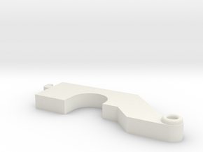 Turnigy 9XR Pro Spring Arm Mod in White Natural Versatile Plastic
