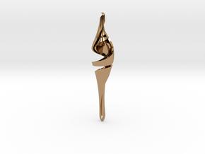Intertwined Teardrop Pendant in Polished Brass