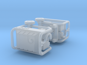 1/87th pair of Generac type portable generators in Smooth Fine Detail Plastic