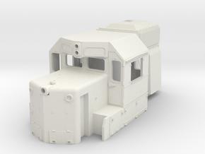 DDm45 Cab part S scale in White Natural Versatile Plastic
