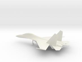 Sukhoi Su-30 Flanker-C in White Natural Versatile Plastic: 1:100