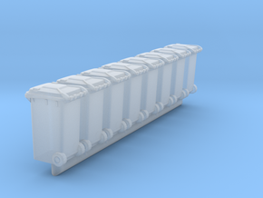 Trash bin Ver03. HO Scale (1:87) in Smooth Fine Detail Plastic
