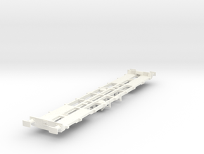 CIE 42ft LY Container Flat Wagon [B-3] square buff in White Processed Versatile Plastic