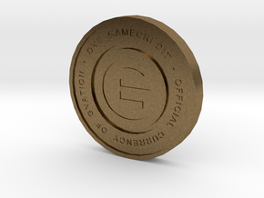 Physical Game Credits Coin thin model in Natural Bronze