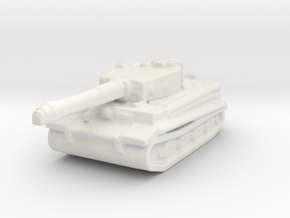Tiger board game piece in White Natural Versatile Plastic