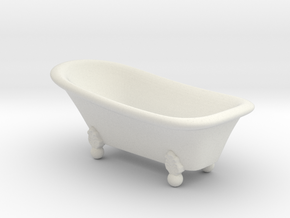 Classic bathtube 01. 1:24 Scale  in White Natural Versatile Plastic