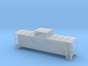 Bobber Caboose II - Zscale in Smooth Fine Detail Plastic