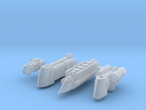 System Ships (4) in Smooth Fine Detail Plastic