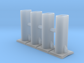 SW900E Exhaust Stack (HO - 1:87) 4X in Smoothest Fine Detail Plastic