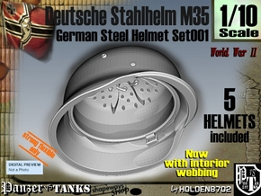 1/10 stahlhelm M35 Set001 in White Natural Versatile Plastic