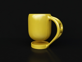 Levitate - coffee cup in Yellow Processed Versatile Plastic