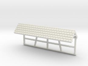 HOF031b - Roof for castle wall in White Natural Versatile Plastic