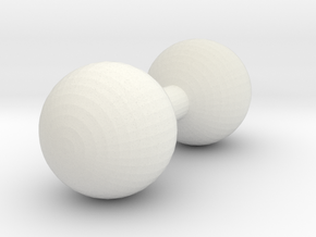 8mm Post in White Natural Versatile Plastic
