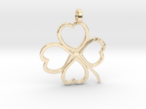 Four-leaf clover in 14K Yellow Gold