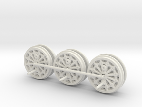 S&DR Derwent - Wheels (Steel & WSF) in White Strong & Flexible