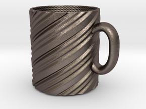 Twisty mug in Polished Bronzed Silver Steel