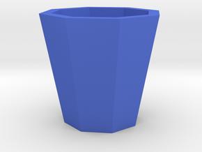 Succulent and air plant pot in Blue Processed Versatile Plastic