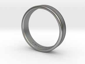 Classy Gentlemans Wedding Band in Natural Silver: 8.5 / 58