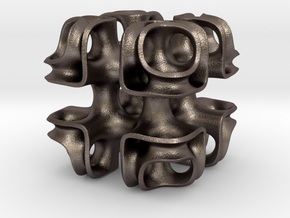 Cubic Lattice in Polished Bronzed Silver Steel
