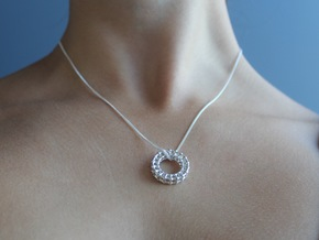 Complex Symmetry Pendant in Polished Silver