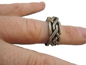 Holistic Ring interlocking metal in Interlocking Raw Brass