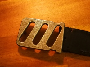 'Industrial' Style Belt Buckle in Polished Bronzed Silver Steel