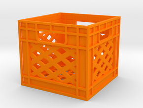 1/10 Milk Crate 2018 in Orange Processed Versatile Plastic