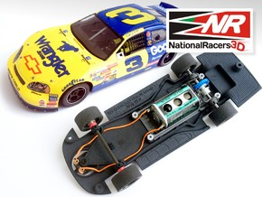 3D Chassis - SCX Chevrolet MonteCarlo 2005 (Combo) in Black Natural Versatile Plastic