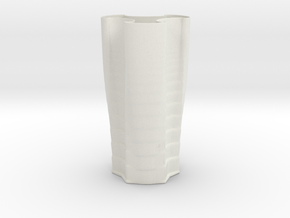 Vase 2345 in White Natural Versatile Plastic
