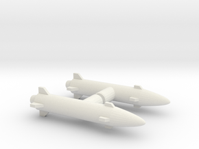 Photon Sled Missiles in White Natural Versatile Plastic