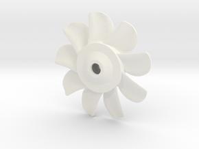 1/72 Nine Blades Sub Propeller in White Processed Versatile Plastic