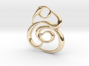Swirly circles in 14k Gold Plated Brass